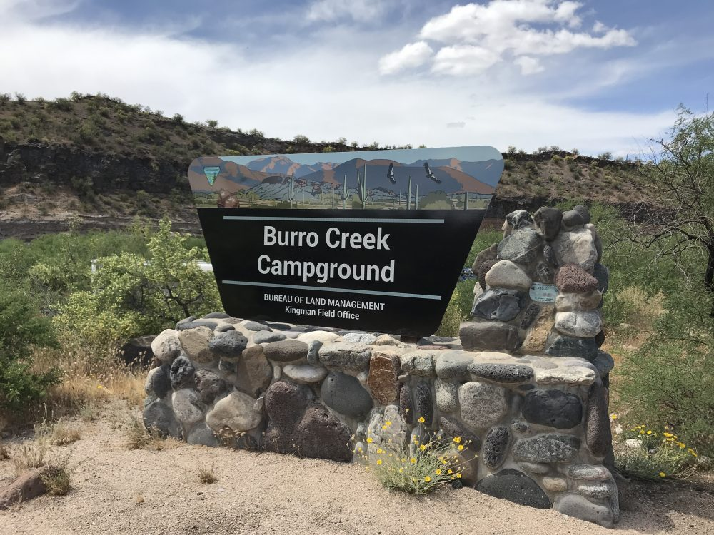 The BLM Burro Creek Campground Near Wikieup, Arizona